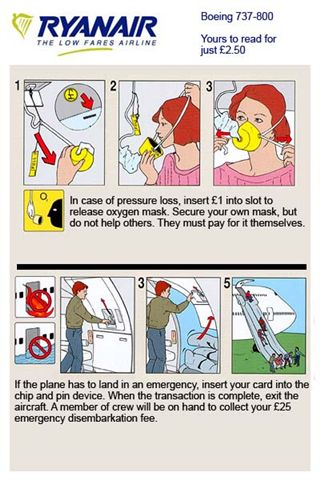 Ryanair safety card